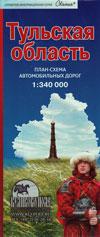 Тульская область: план-схема автомобильных дорог